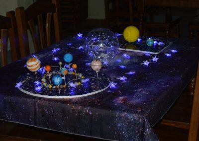 Universo simulado con luces